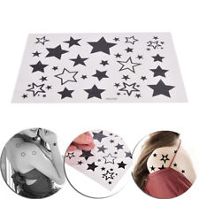 Removable Waterproof Cool Temporary Tattoo Body Art Sticker Black Stars Shape fP