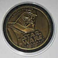 STAR WARS REVENGE OF THE SITH COIN 2005 DARTH VADER LIMITED EDITION EPISODE 3