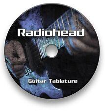 Radiohead Rock Guitar Tab Tablature Lesson Software CD - Guitar Pro