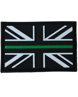 Thin Green Line PVC Patch Morale Ambulance Union Jack Hook Backed Badge NHS