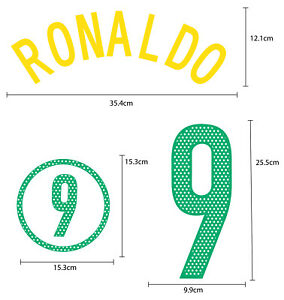 BRAZIL Home 2004-06 PU NAME NUMBER FOOTBALL SOCCER PRINT EXCELLENT QUALITY