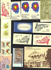 AUSTRALIA 1960-80s COLLECTION OF 16 FULL BOOKLETS ALL MINT DIFFERENT