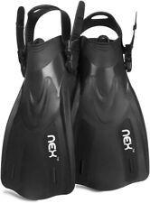 Snorkel Fins Swim Fins Travel Size Swimming Flippers Diving Adult Men US9-13