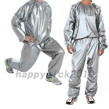Men Women Sweat Sauna Suit Fitness Loss Weight Exercise Training Tracksuit 6size