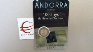 2 euro 2017 fdc Andorra Andorre андорра 100 Inno Himne Nazionale 安道尔 Andora
