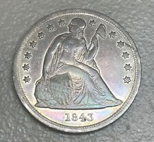 1843 seated Liberty dollar   , XF   details