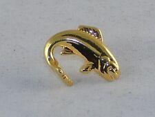 Men's Tie Tack ~Large Sport Fish ~ 2 Pcs Gold Tone ~ NEW #5310340 Free USA SHIP