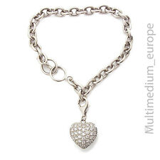 925 Silber Armband Herz Anhänger Zirkonia silver bracelet pendant heart zirconia