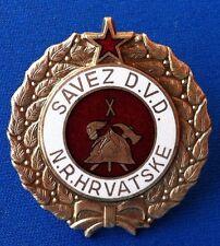 Croatia badge Firefighting medal Yugoslavia - Vatrogasni savez Hrvatske DVD NRH