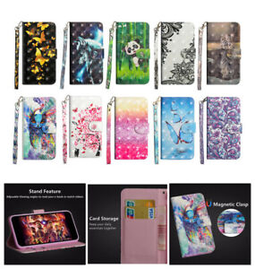 NEW Smart Phones 3D PU Leather Flip Wallet Stand Slots Case Cover #49