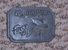 Remington First in Flight Belt Buckle, Canada Goose, 1980