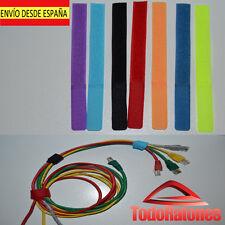 10x BRIDA VELCRO COLOR sujeta para organizar cables ordenador consola organiza.