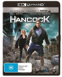 Hancock (Blu-ray, 4K Ultra HD, 2016, 2-Disc Set) NEW S