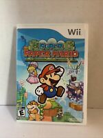 Super Paper Mario (Nintendo Wii, 2007) Complete CIB With Manual TESTED