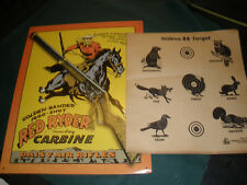 RED RYDER TIN SIGN & 10 PAPER TARGET