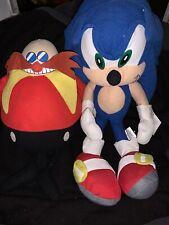 Rare SEGA sonic the hedgehog and dr eggman Plush.
