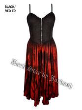 Jordash Dark Star Red & Black Zip Bodice Long Dress Full Skirt Goth Pagan XXL