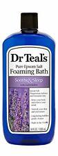 Dr Teal's Foaming Bath with Pure Epsom Salt, Soothe & Sleep w Lavender, 34 oz ✔️