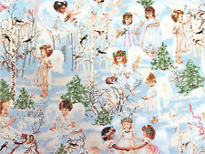 Winter Angels & Birds Cotton Timeless Treasures Fabric #5132 By the Yard