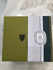 Diptyque Candle perfumery Paris large box empty Baies 5x4 Green Tissue Paper