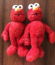 "LOT 2x Fisher Price Mattel Sesame Street Many Kisses Elmo Talking Plush 15"" Tall"