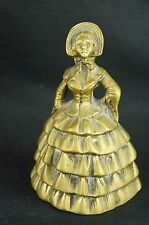 "Excellent antique brass bell ca. 1900 figural 5"" [Y8-W6-A9-E9]"