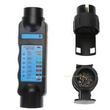 7Pin / 13Pin Towing Lights Wiring Trailer Circuit Plug + Tester + Socket Set New