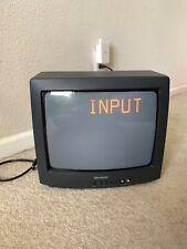 "SHARP 13"" TV 13L-M100B Vintage CRT Gaming Television Manufactured in 1999 Black"