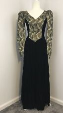 Hand Made Victorian Inspired Dress/ Costume Puff Shoulders Fitted Point Sleeves