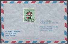 1990 UAE Cover SHARJAH to Germany, Coat of arms Crest [cm772]
