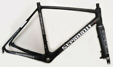 STRADALLI CARBON FIBER DISC BRAKE CYCLOCROSS GRAVEL BIKE FRAME SET 48CM XS GREY