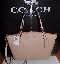 NWT Coach F36675 Pebble Leather Small Kelsey Satchel Crossbody  Beechwood  $295