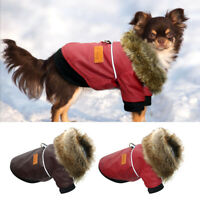 Dog Jackets for Small Dogs Winter Waterproof Pet Clothes Fur Fleece Coats Pugs