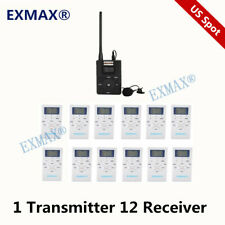 Fm Wireless Church Translation Microphone System 60-108Mhz For Meeting 1T12R Pro
