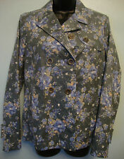 Italian designer Ladies Floral Jacket Swiss-chris Size 44 - UK 12 Med RRP £137
