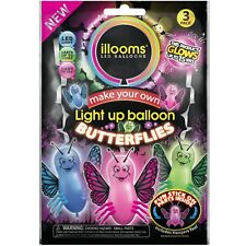 illooms Butterflies LED Light Up Balloons 4 pack of 3 each (12 pack) Party Kids