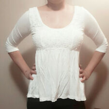 Hollister White Lace Top Juniors Size M
