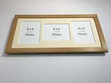 Multi App Photo Frame Oak-Holds 3 x 8''X6'' Choose from 4 mount colours