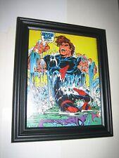 Spider-Man Pin-up FRAMED #18 vs Hydro-Man Todd McFarlane
