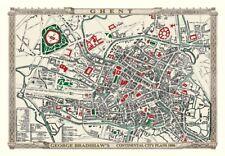 George Bradshaw'S CONTINENTAL Città Piano di Gand 1896 - 1000 Pezzo Puzzle