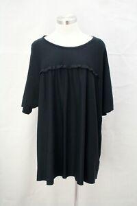 MARINA RINALDI/ MAX MARA Size L AS NEW! Cotton jersey Boxy Relaxed Raglan sleeve