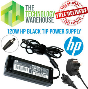 Genuine HP 120w Charger PSU - 18.5V 6.5A - 7.4mm*5mm Tip + Optional Power Cable