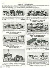 1956 ADVERT 4 PG Bachman Plasticville Sets Toy Diners Railroad Station Farm Sets