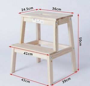 Wooden Step stool, BEKVAM IKEA,two step step stool, wooden step ladder,baby high