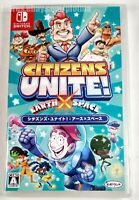CITIZENS UNITE EARTH X SPACE Brand New NINTENDO SWITCH Game JP Import USA Seller