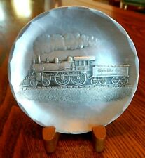 Wendell August Forge Handmade 4-1/2: Aluminum Plate EMPIRE STATE EXPRESS TRAIN