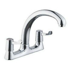 57A DECK-MOUNTED DUAL-LEVER MIXER KITCHEN TAP CHROME