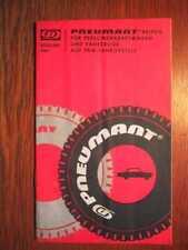 KFZ - PNEUMANT Reifen für Personenkraftwagen - Orig. Katalog (1967)