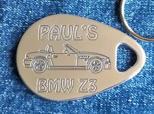 BMW Z3 1999-02 PERSONALISED PICTURE  KEYRING CNC ENGRAVED ALUMINIUM GIFT