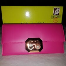 Ted Baker Lang Fuchsia Crystal Pearl bobble Clasp Purse BNWT